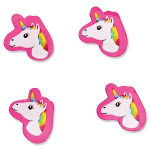 4 Mini Unicorn Erasers