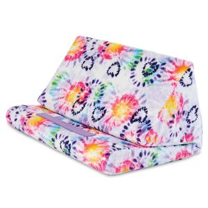 Tie Dye Hearts Plush Tablet Holder