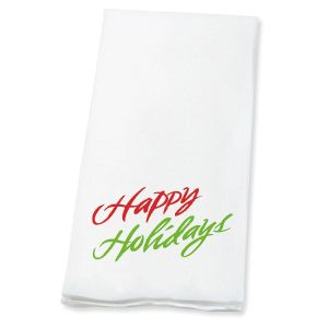 Happy Holidays   Disposable Hand Towels