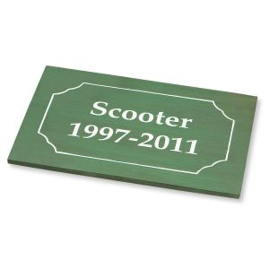 Engraved Pet Memorial Marker