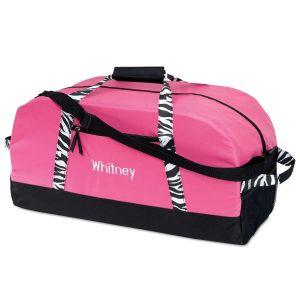 Zebra Print Duffel Bag