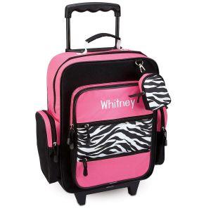 Zebra Print Rolling Luggage