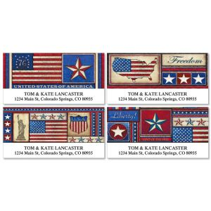 American Deluxe Address Labels  (4 designs)