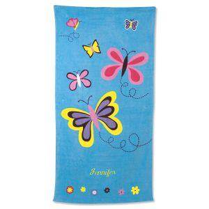 Butterfly Personalized Towel
