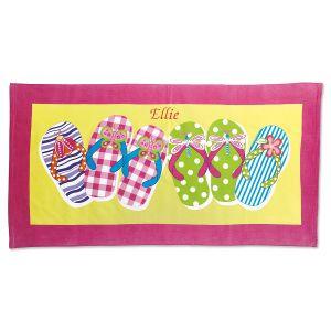 Flip-Flop Personalized Towel