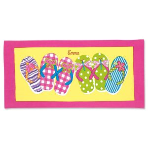 Flip-Flop Personalized Towel