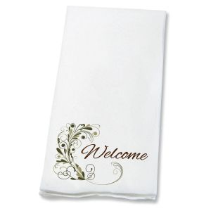 Welcome Flourish Hand Towels