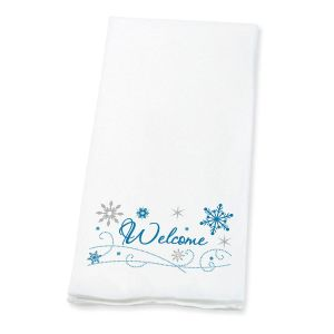 Welcome Snowflakes   Disposable Hand Towels