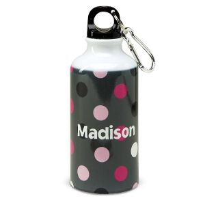 Grey Multi-Dots Water Bottle