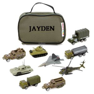 Military Vehicles 'n' Case Set