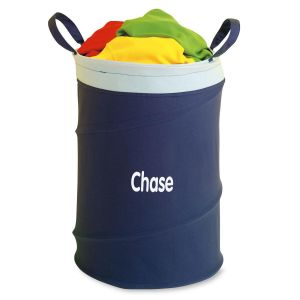 Personalized Blue Collapsible Laundry Tote