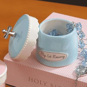 Blue My First Rosary with Keepsake Box