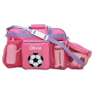 Pink Personalized Soccer Sports Bag