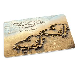 Two Hearts Personalized Doormat