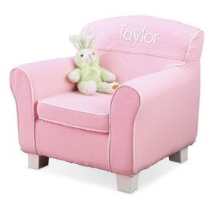 Pink Personalized Slip-Covered Laguna Chair