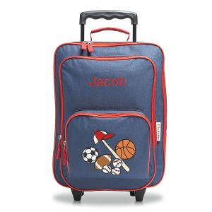 "All Sports 18"" Personalized Rolling Luggage"