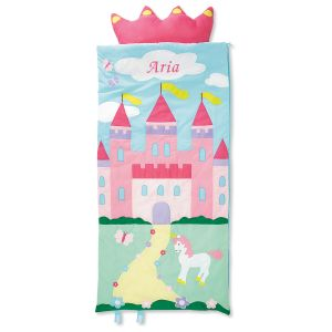 Personalized Castle Sleeping Bag with Detachable Pillow