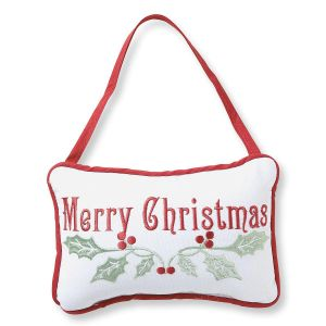 Merry Christmas Pillow Doorknob
