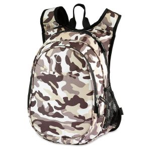 Camo Backpack with Lunch Cooler