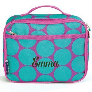 Aqua Dots Lunch Bag