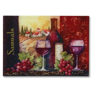 Wine Personalized Glass Cutting Board