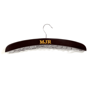 Personalized Wooden Tie Rack