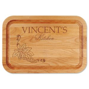 Alder Vineyard Personalized Wood Cutting Board