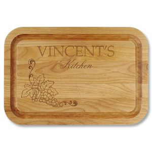 Alder Wood Vineyard Personalized Cutting Board