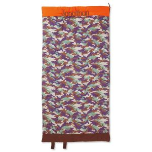 Orange/Brown Camo Sleeping Bag