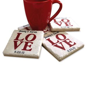 Love Personalized Coasters