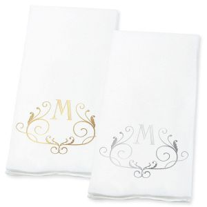 Scroll Initial Guest Hand Towels