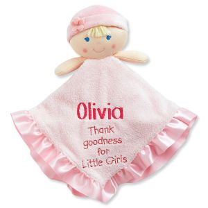 Thank Goodness For Little Girls Personalized Doll Blankie
