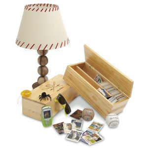 Wooden Baseball Card Storage Boxes