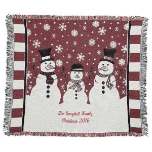 Snowman Personalized Throw