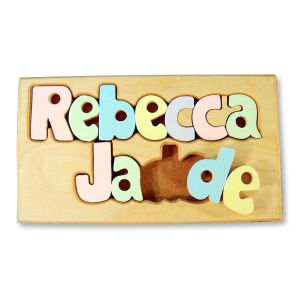 Personalized Double Name Board Puzzle