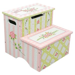 Crackled Rose Step Stool