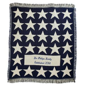 Patriotic Stars Throw