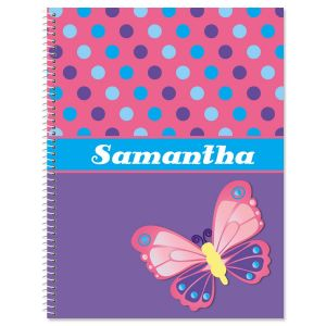 3-D Butterfly Large Notebook