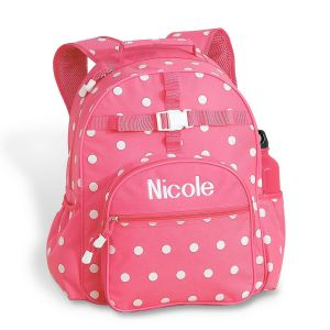 Pink with White Dots Backpack