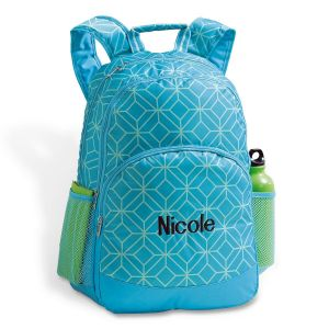 Turquoise Geo Backpack