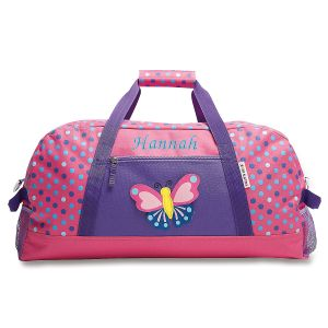 3-D Butterfly Personalized Duffel Bag