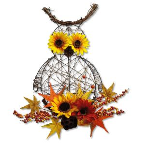 Owl Sunflower Wall Decoration