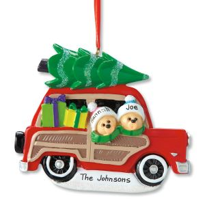 Woody Wagon Family Ornament