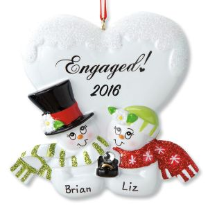 Engaged Couple Ornament