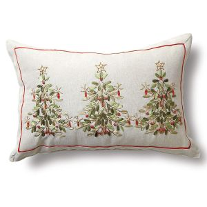Ribbon Christmas Tree Pillow