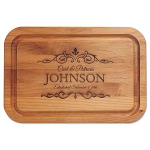 Alder Established Personalized Wood Cutting Board