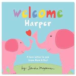 Welcome, Little One Pink Elephant Personalized Storybook