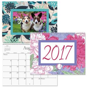 2017 Floral Photo Frame Keepsake Calendar