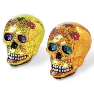 Glowing Glass Sugar Skull