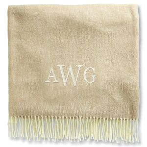 Personalized Blanket with Monogram - 3 Colors